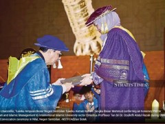 USIM  conferred an honorary doctorate to IIUM Rector