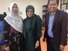 A Visit by Dr Eva F. Nisa