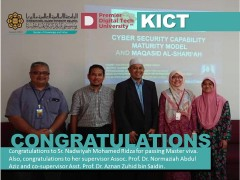 Congratulations to  Sr. Nadwiyah Mohamed Ridza