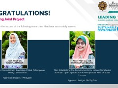 Congratulations for securing Joint Project!