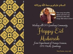 HAPPY EID MUBARAK FROM DEPARTMENT OF HUMAN SCIENCE, CFS