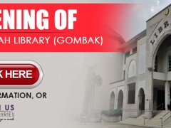 IIUM LIBRARY :: Re-Opening of Dar al-Hikmah Library (Gombak)