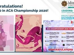 Congratulations! Top 30 in ACA Championship 2020!