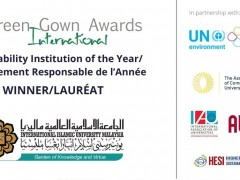 IIUM country's first university to receive International Green Gown Award