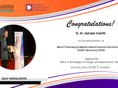 Congratulations  to Ts. Dr. Zahidah Zulkifli