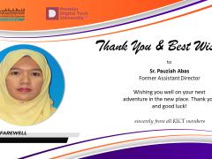 Thank You Sister Pauziah Abas