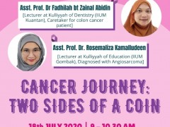 Sharing session - Cancer Journey: Two Sides of a Coin