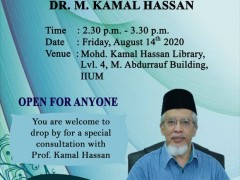 ADVISORY ACADEMIC CONSULTATION WITH PROFESSOR Emeritus Dr. M. KAMAL HASSAN