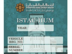 IMPLEMENTATION OF VEHICLE STICKER FOR VEHICLES ENTERING ISTAC CAMPUS