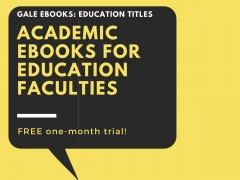 e-books on trial : Academic eBooks for Education Faculties