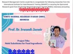 Congratulations to Prof. Dr. Irwandi!