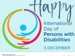 HAPPY INTERNATIONAL DAY OF PERSON WITH DISABILITIES 2020