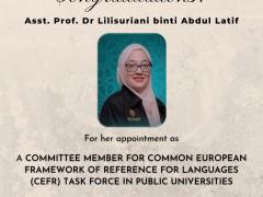 IIUM Pagoh Achievement: Congratulations! to Asst. Prof Dr. Lilisuriani binti Abd Latif