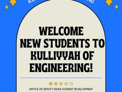 Welcome New Students to Kulliyyah of Engineering!