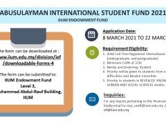 ABUSULAYMAN INTERNATIONAL STUDENT FUND
