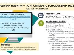 AZMAN HASHIM - IIUM UMMATIC SCHOLARSHIP