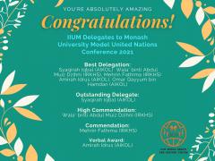IIUM Delegates to Monash University Model United Nations Conference 2021