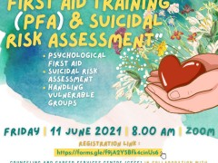 CCSC AND DEPARMENT OF PSYCHIATRIC COLLABORATES ON ORGANIZING TRAINING OF PSYCHOLOGICAL FIRST AID (PFA) AND SUICIDAL RISK ASSESSMENT