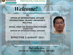 WELCOME NEW DIRECTOR AND DEPUTY DIRECTORS TO INTERNATIONAL OFFICE