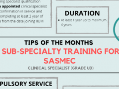 Tips of the Month : Sub-Specialty Training for SASMEC (Clinical Specialist Grade UD)