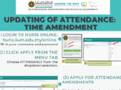 Tips of the Month : Updating of Attendance: Time Amendment