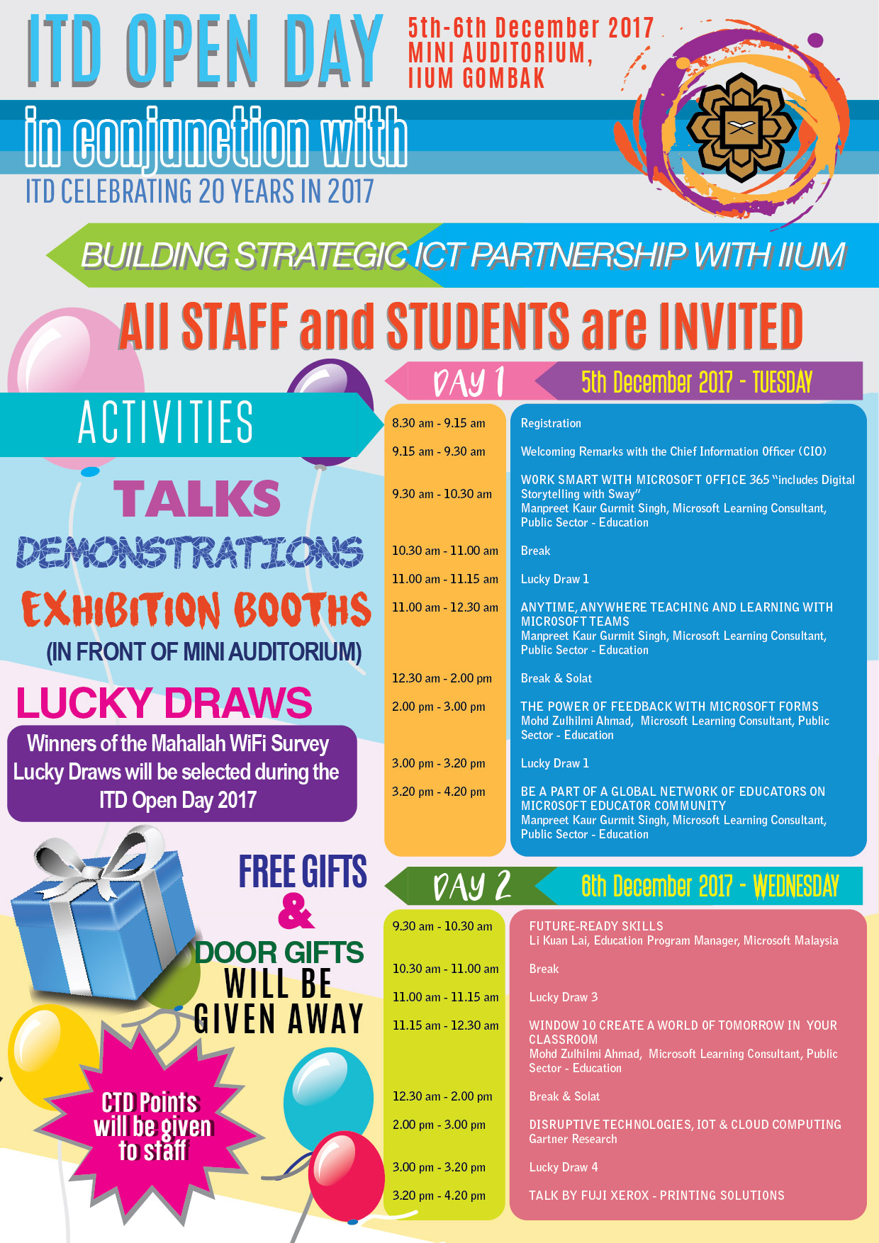 ITD Open Day 2017