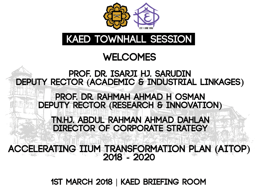 KAED TOWNHALL SESSION NO. 1/2018