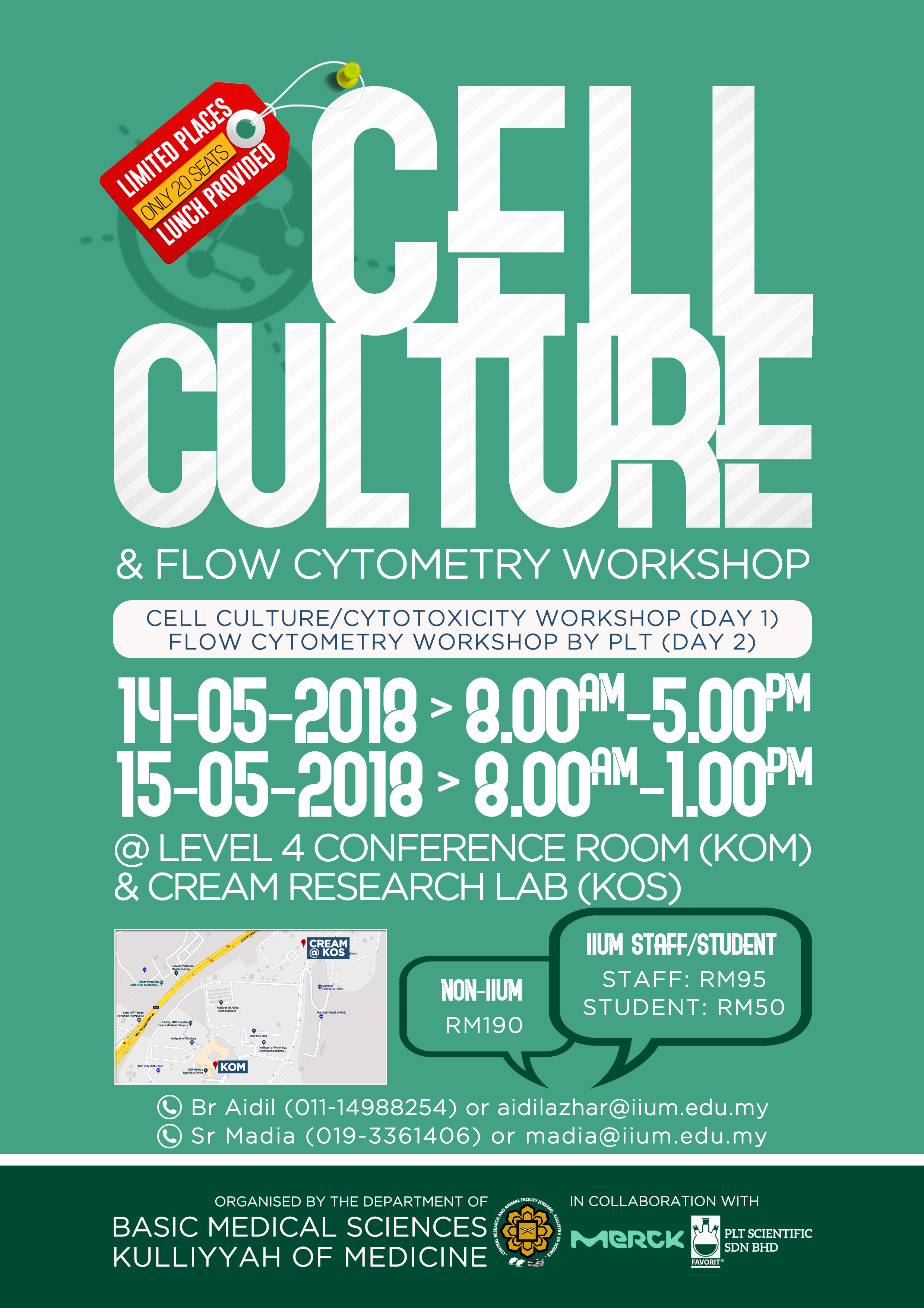 CELL CULTURE (CCW) & FLOW CYTOMETRY WORKSHOP (FCW) 2018
