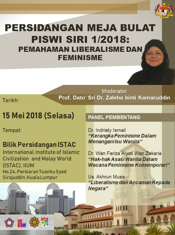 """PERSIDANGAN MEJA BULAT PISWI SIRI 1/2018: """"PEMAHAMAN LIBERALISME DAN FEMINISME"""""""
