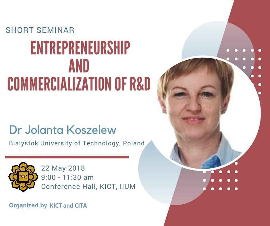 Entrepreneurship and Commercialization of R&D