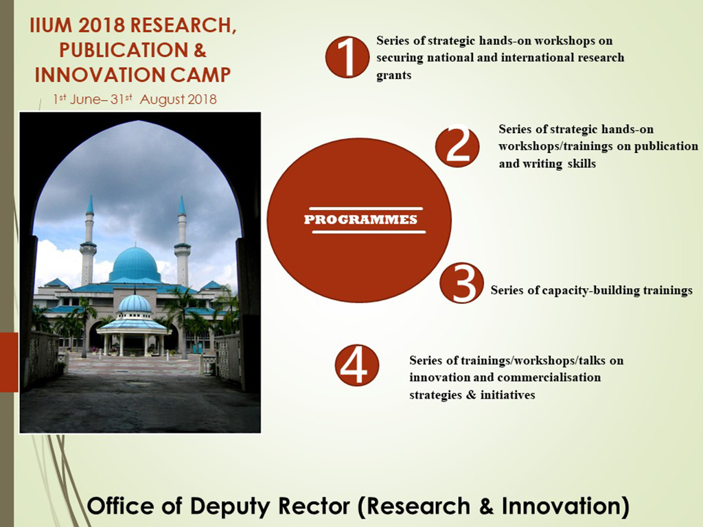 IIUM 2018 Research, Publication & Innovation Camp