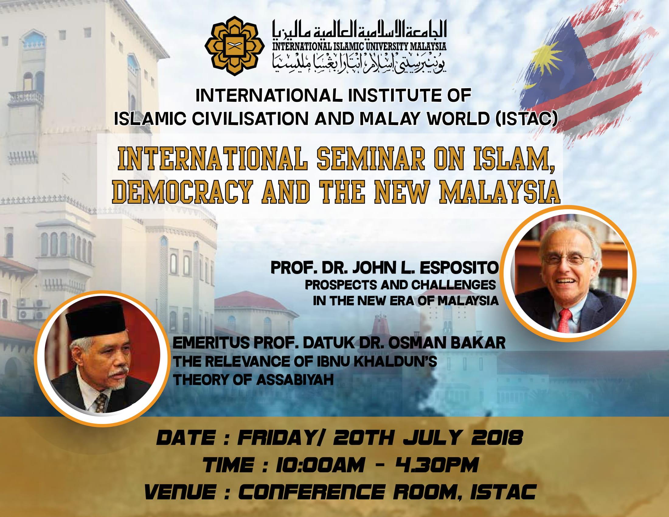 International Seminar on Islam, Democracy and the new Malaysia