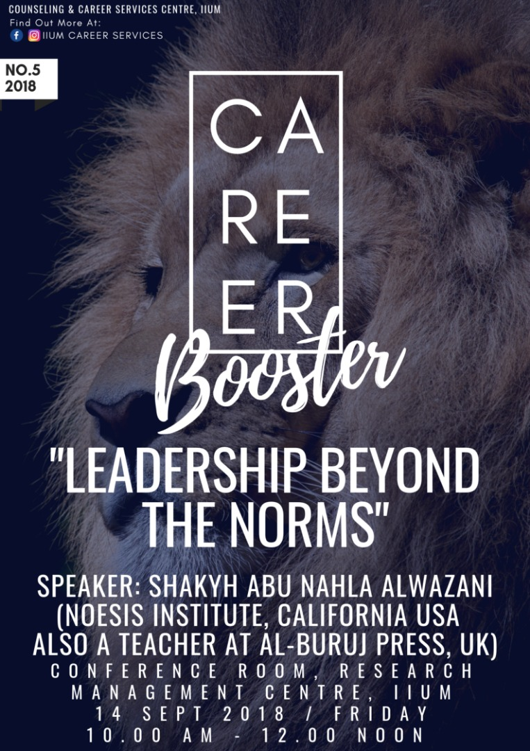 CAREER BOOSTER : LEADERSHIP BEYOND THE NORMS