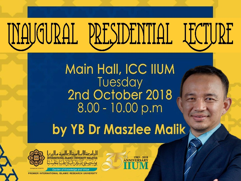Inaugural Presidential Lecture