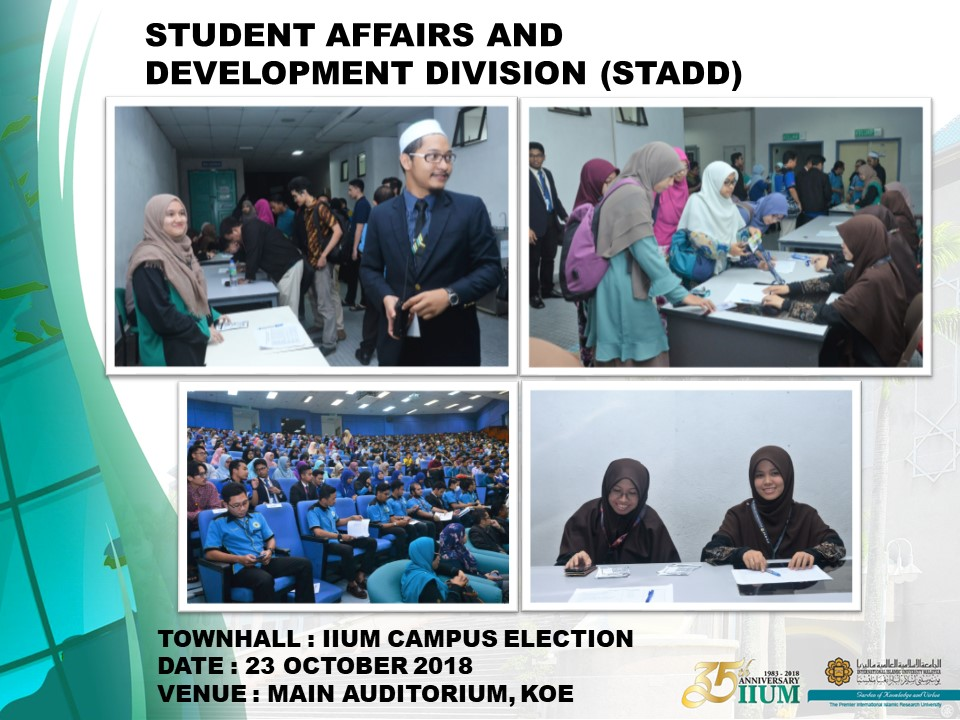 TOWNHALL: IIUM CAMPUS ELECTION 2018/2019