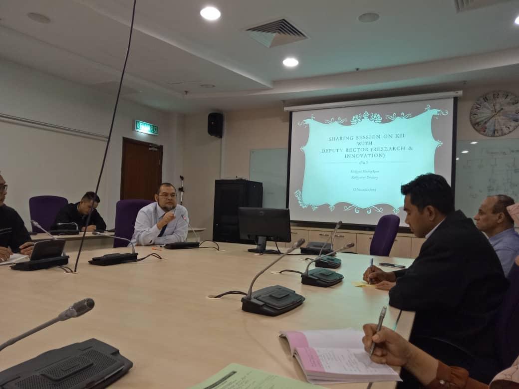 Sharing Session on KII by Prof Dr. Ahmad Hafiz Zulkifly, Deputy Rector (Research & Innovation)