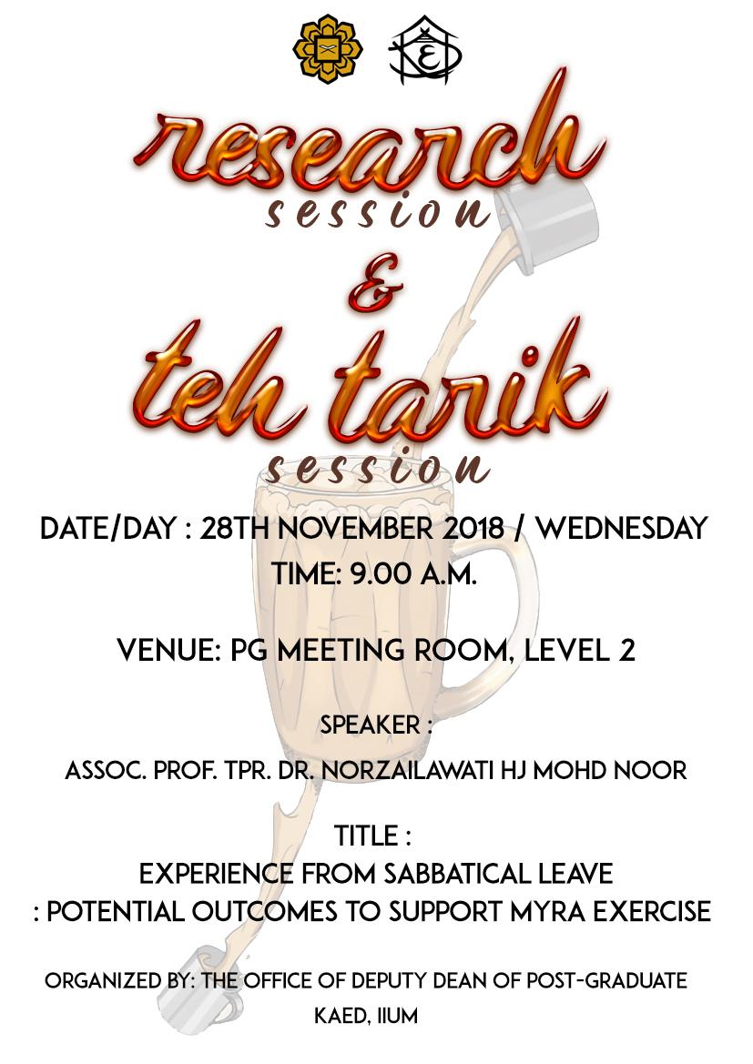 Research & Teh Tarik Session