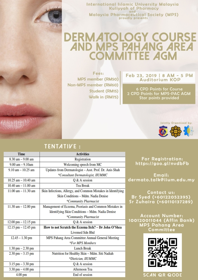 Dermatology Course & Malaysia Pharmaceutical Society Pahang Area Committee AGM