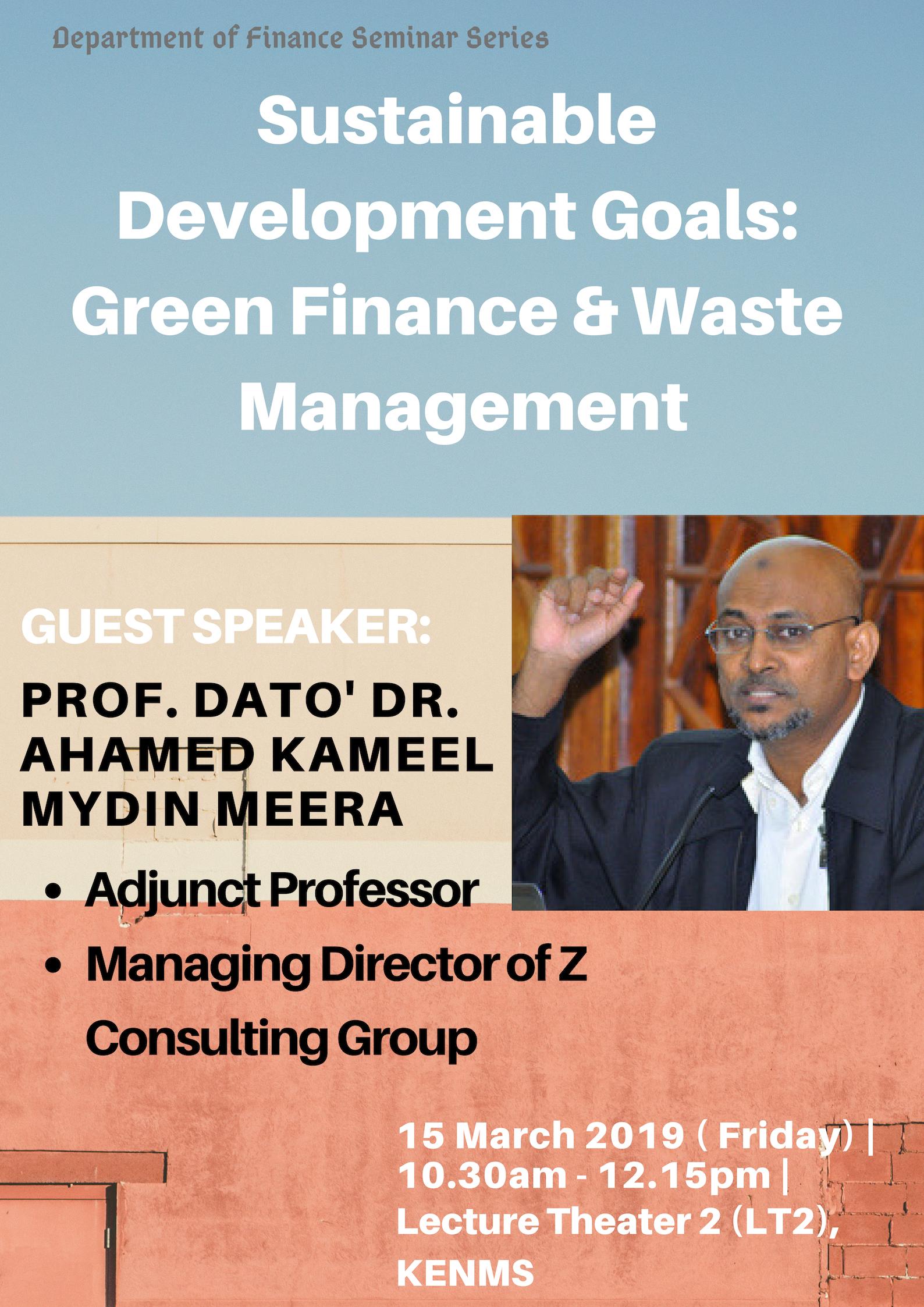 Sustainable Development Goals (SDGs): Green Finance and Waste Management