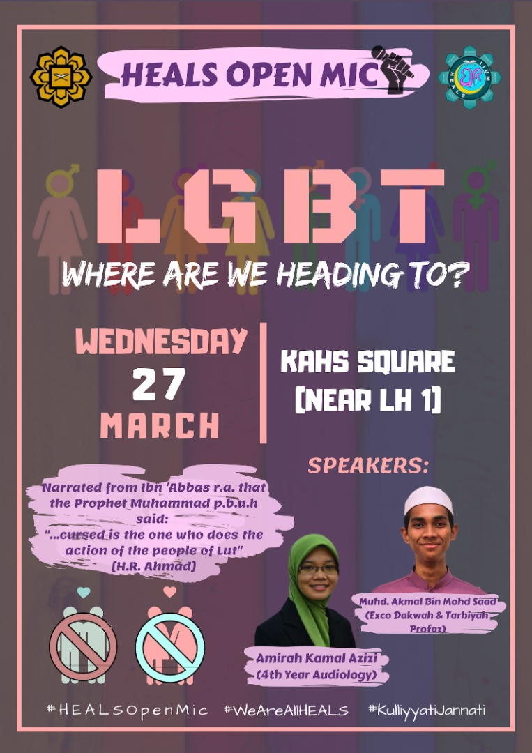 HEALS Open MIC: LGBT... Where Are We Heading To?
