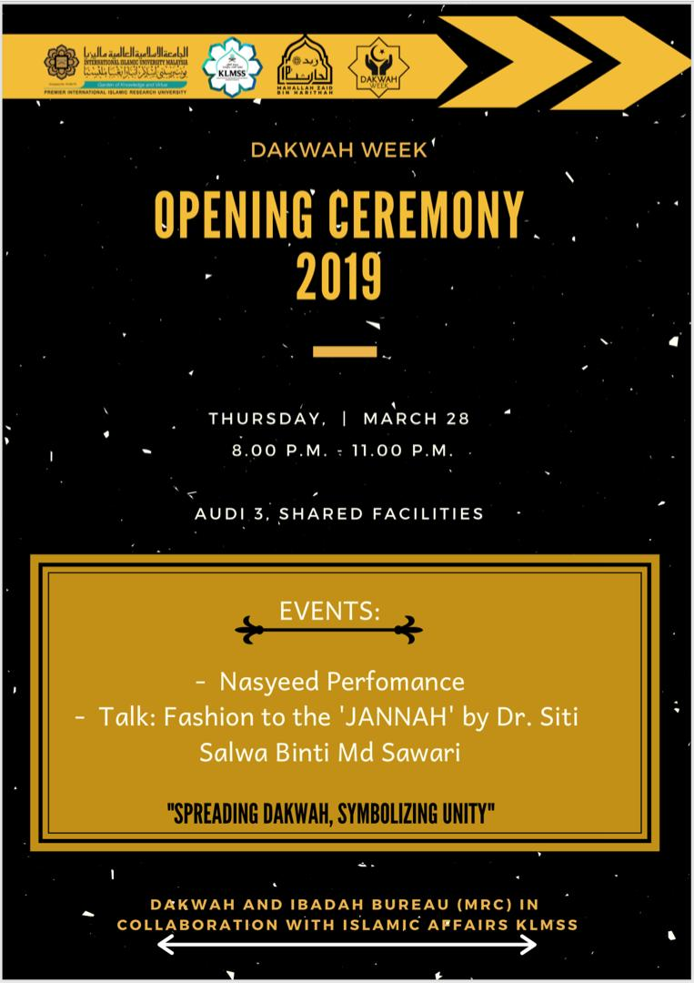Dakwah Week Opening Ceremony