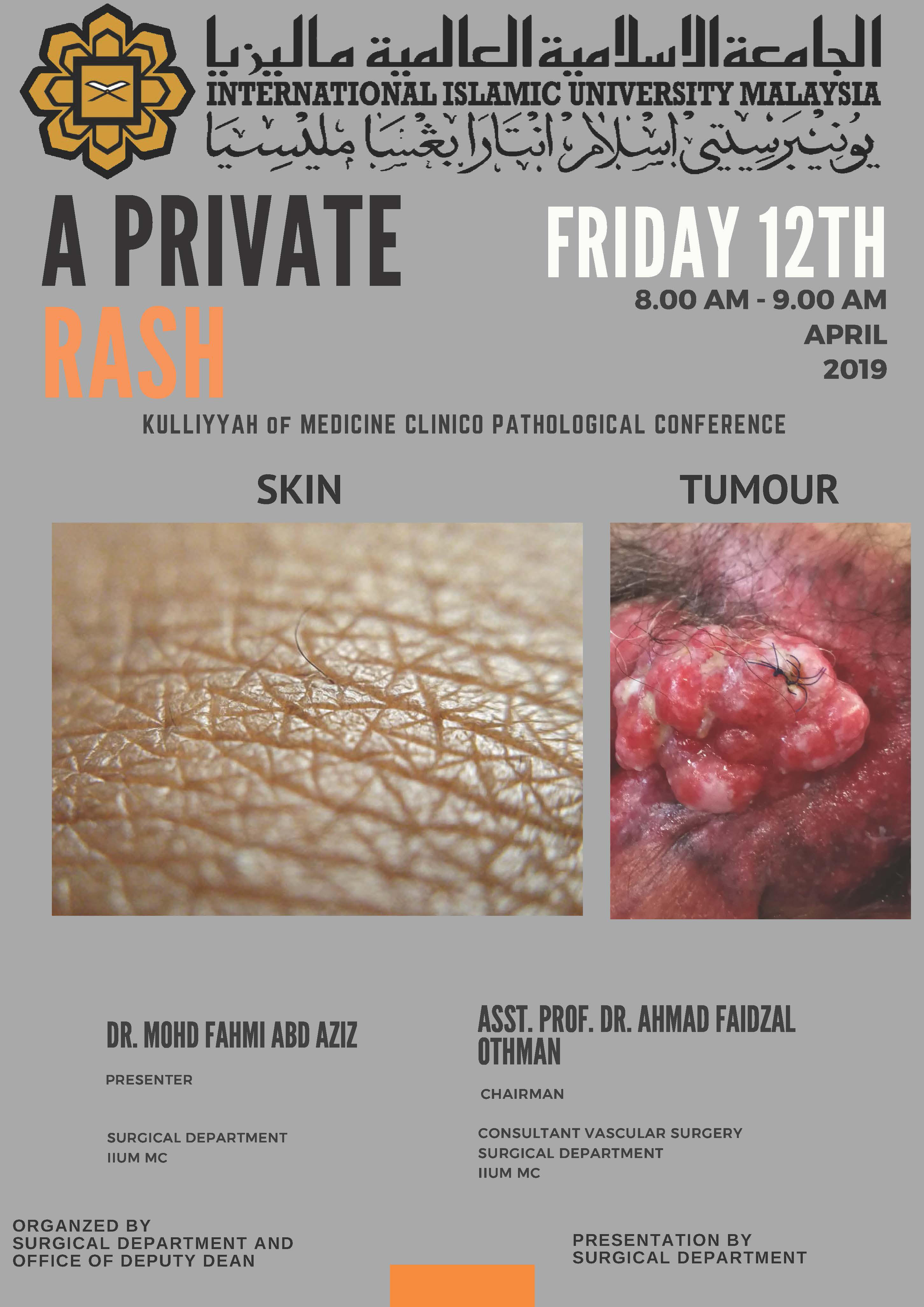 """A PRIVATE RASH"" - KOM CPC BY DEPT. OF SURGERY"
