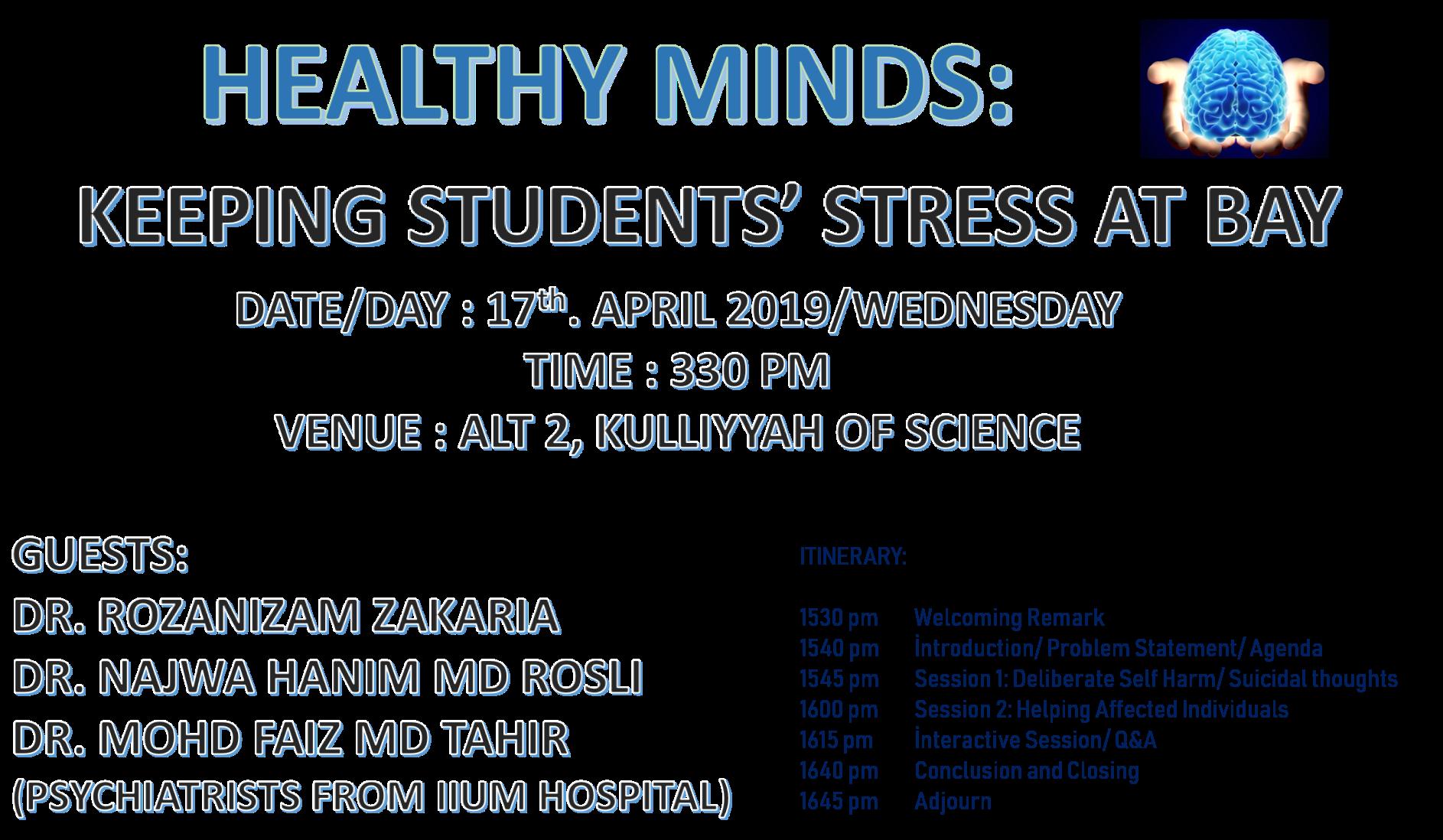 HEALTHY MINDS: KEEPING STUDENTS STRESS AT BAY