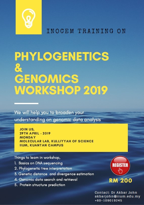PHYLOGENETICS & GENOMICS WORKSHOP 2019
