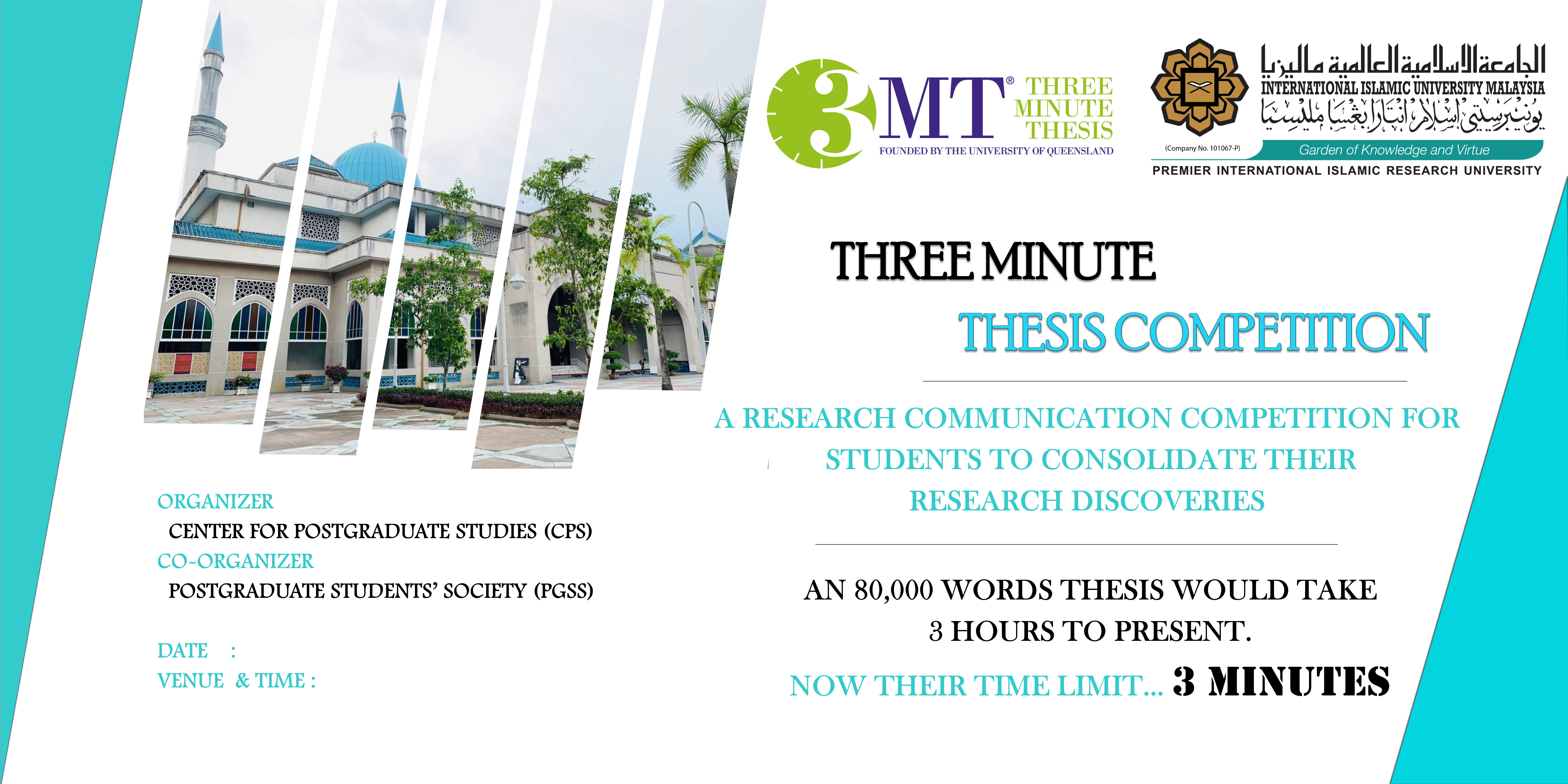 3-minutes thesis Competition