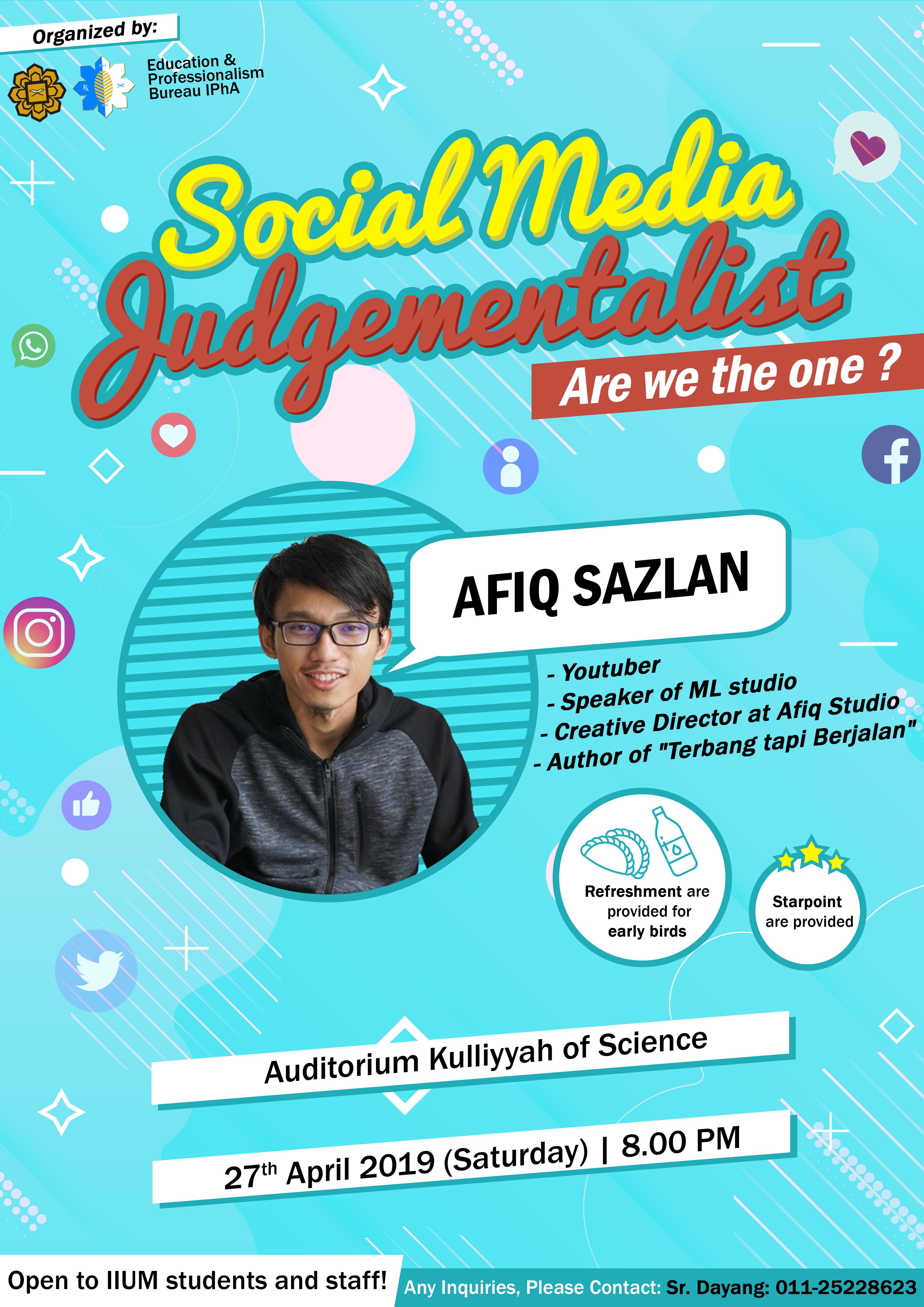 Social Media Judgementalist Talk 2019