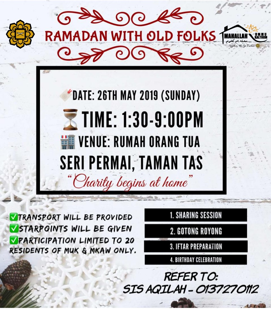 Ramadan With Old Folks: Charity Begins At Home