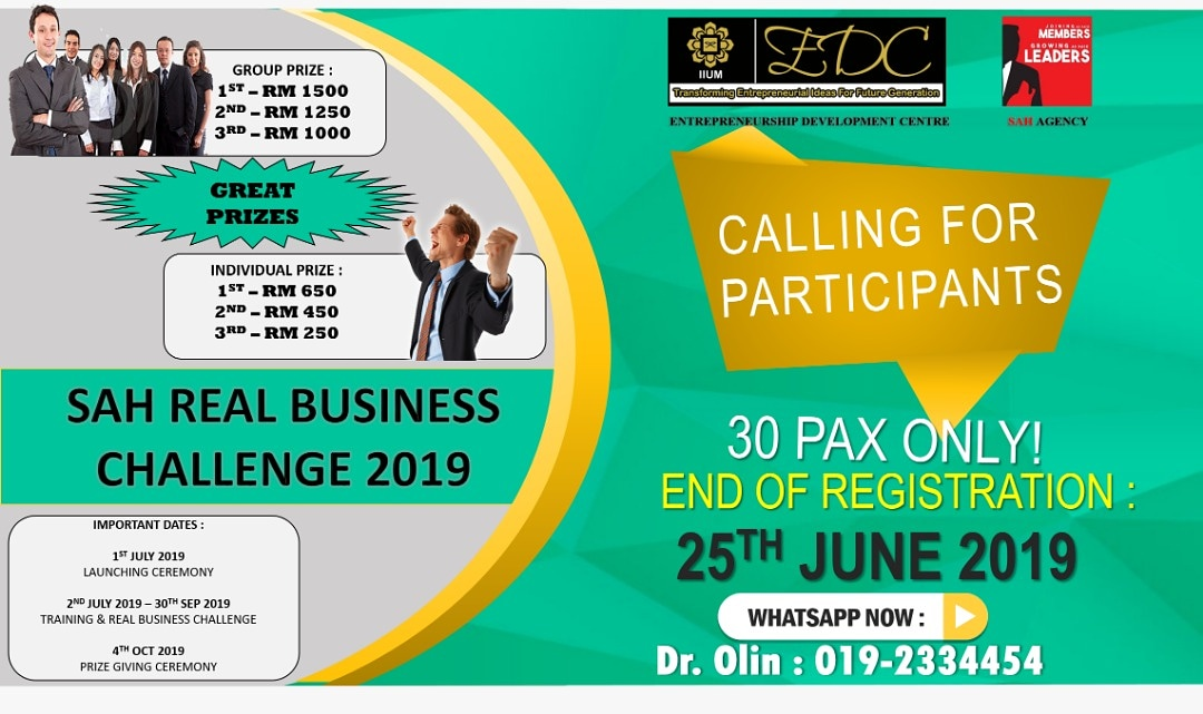 SAH REAL BUSINESS CHALLENGE 2019