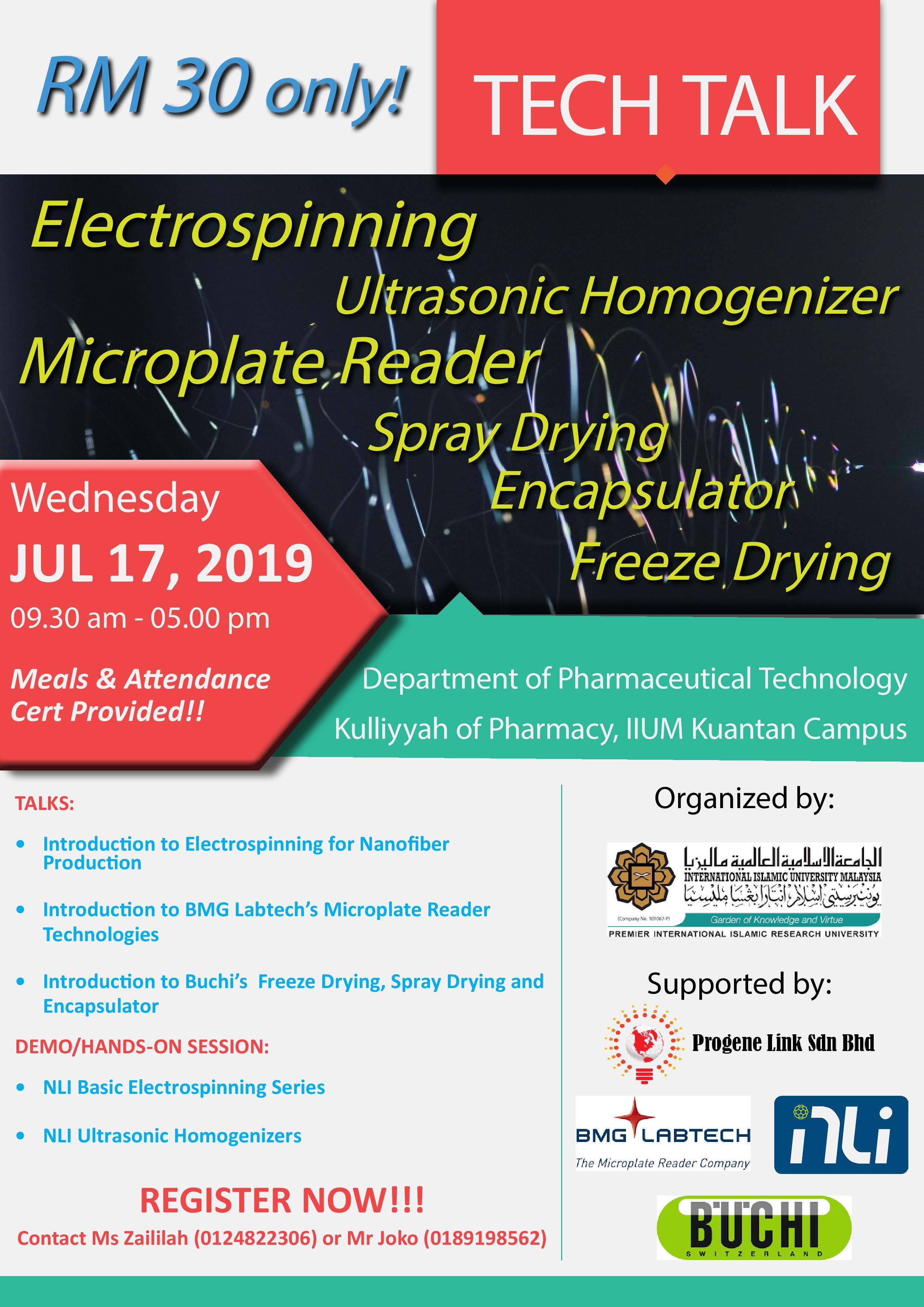 Tech Talk Day: Nanofiber, Nanoparticles and Microplate Assays