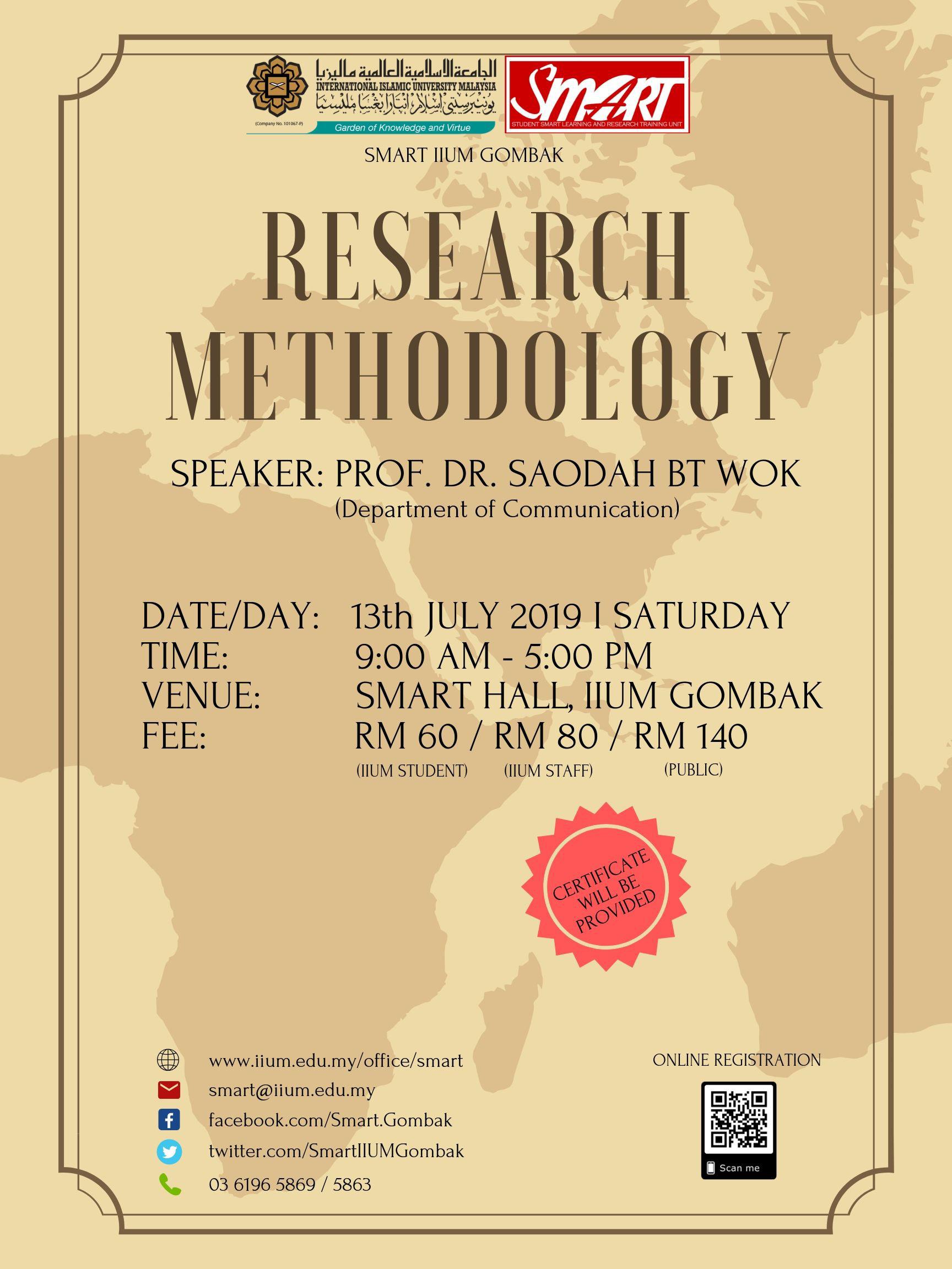 WORKSHOP : RESEARCH METHODOLOGY